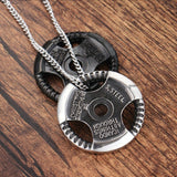 Men Necklace Stainless Steel Steering Wheel Pendant Necklace Fashion Silver Chain Link