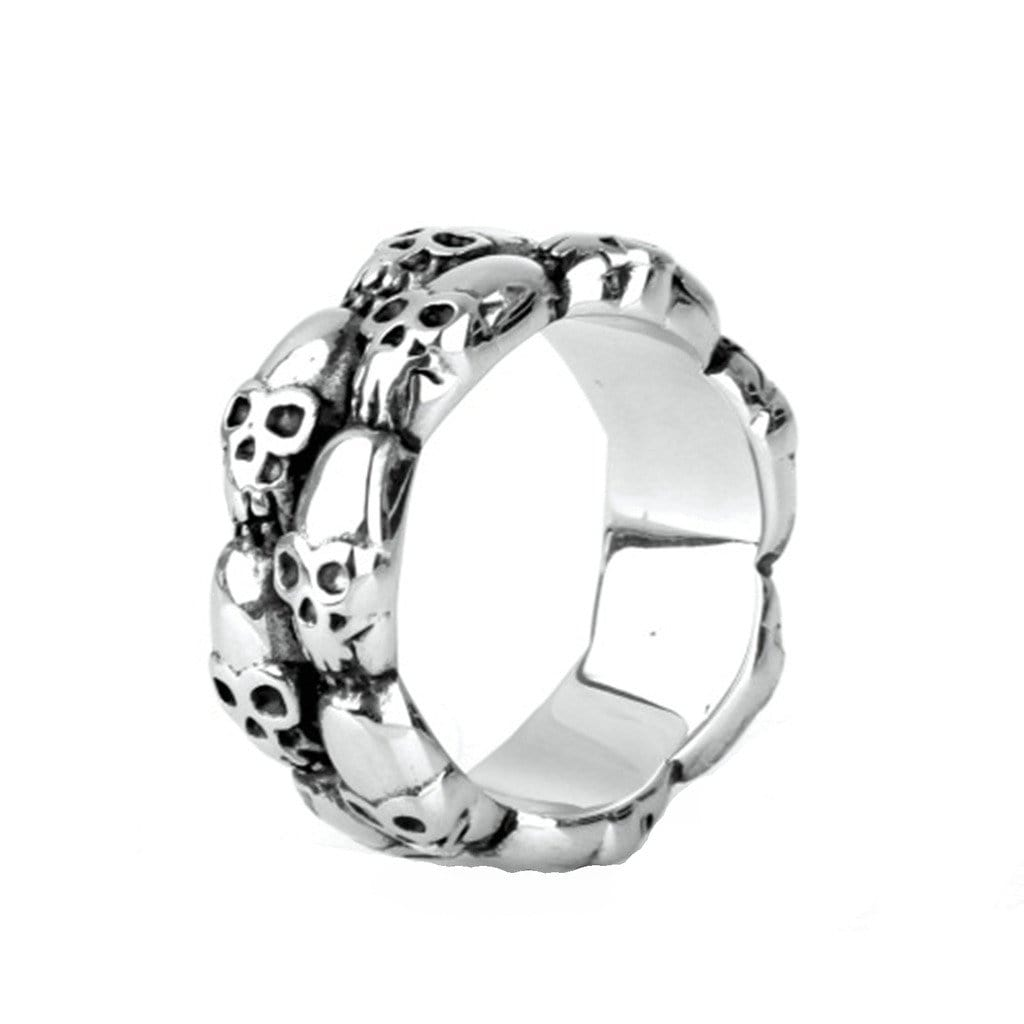 Stainless Steel Rings for Men Jewelry Punk Silver Skull Free Engraving