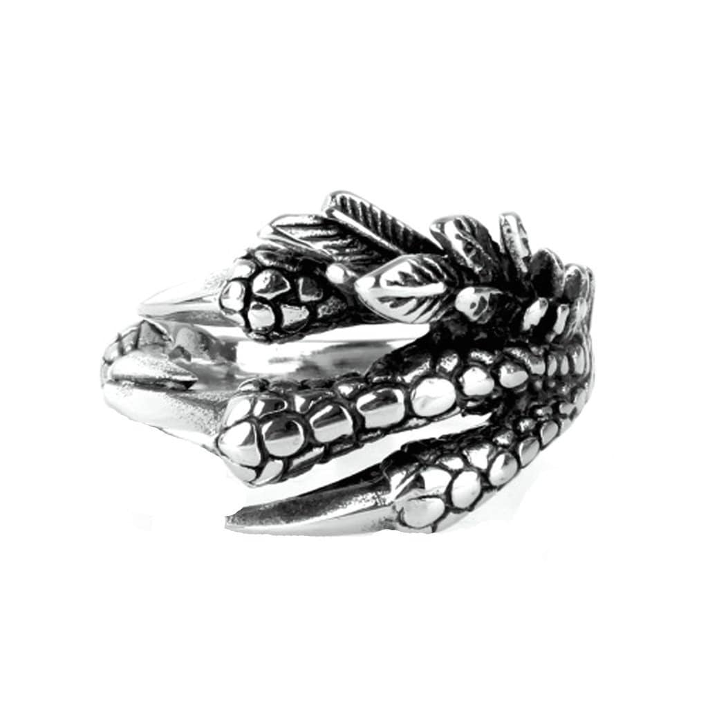 Stainless Steel Mens Ring Punk Personal Eagle Talon Silver Free Engraving