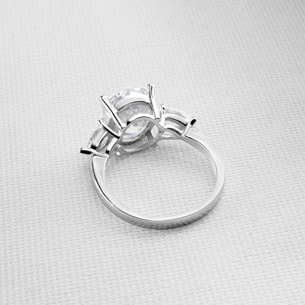 Silver Ring Band Womens Ring Sterling Silver Ring For Women Oval Cubic Zirconia Anniversary Rings Silver Ring Size 5