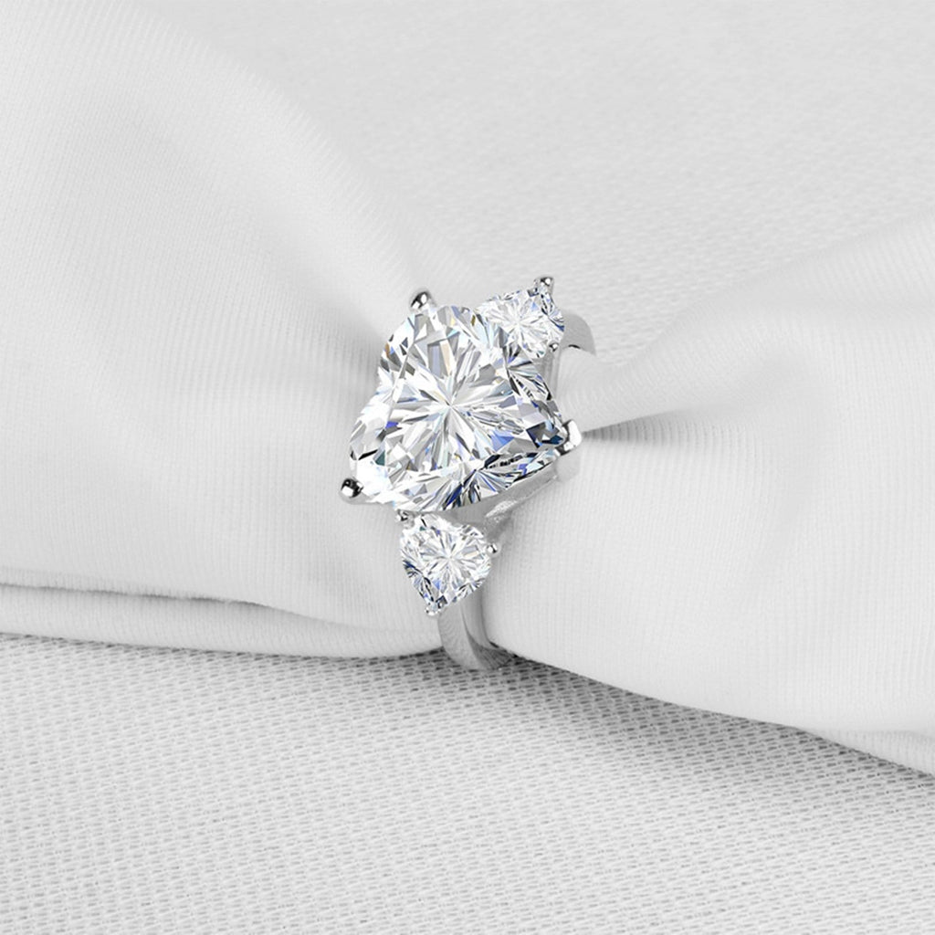Engagement Ring 2019 Womens Ring Sterling Silver Ring For Women Heart Cubic Zirconia Anniversary Rings Silver Ring Size 4