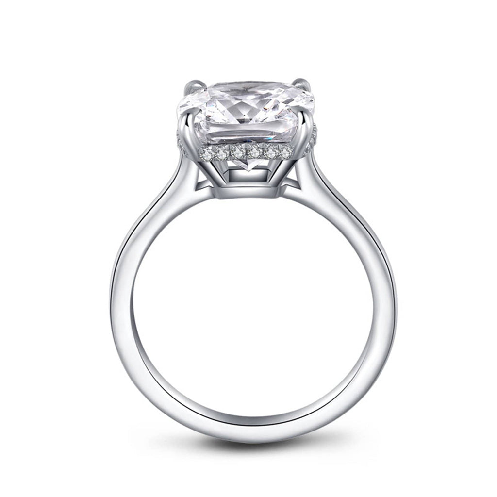 Rings 925 Womens Ring Sterling Silver Ring For Women Square Cubic Zirconia Anniversary Rings Silver Ring Size 5