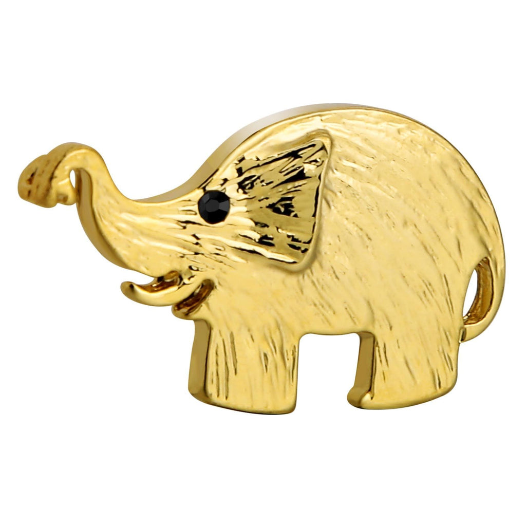 Stainless Steel Brooches For Women Elephant Shape Gold