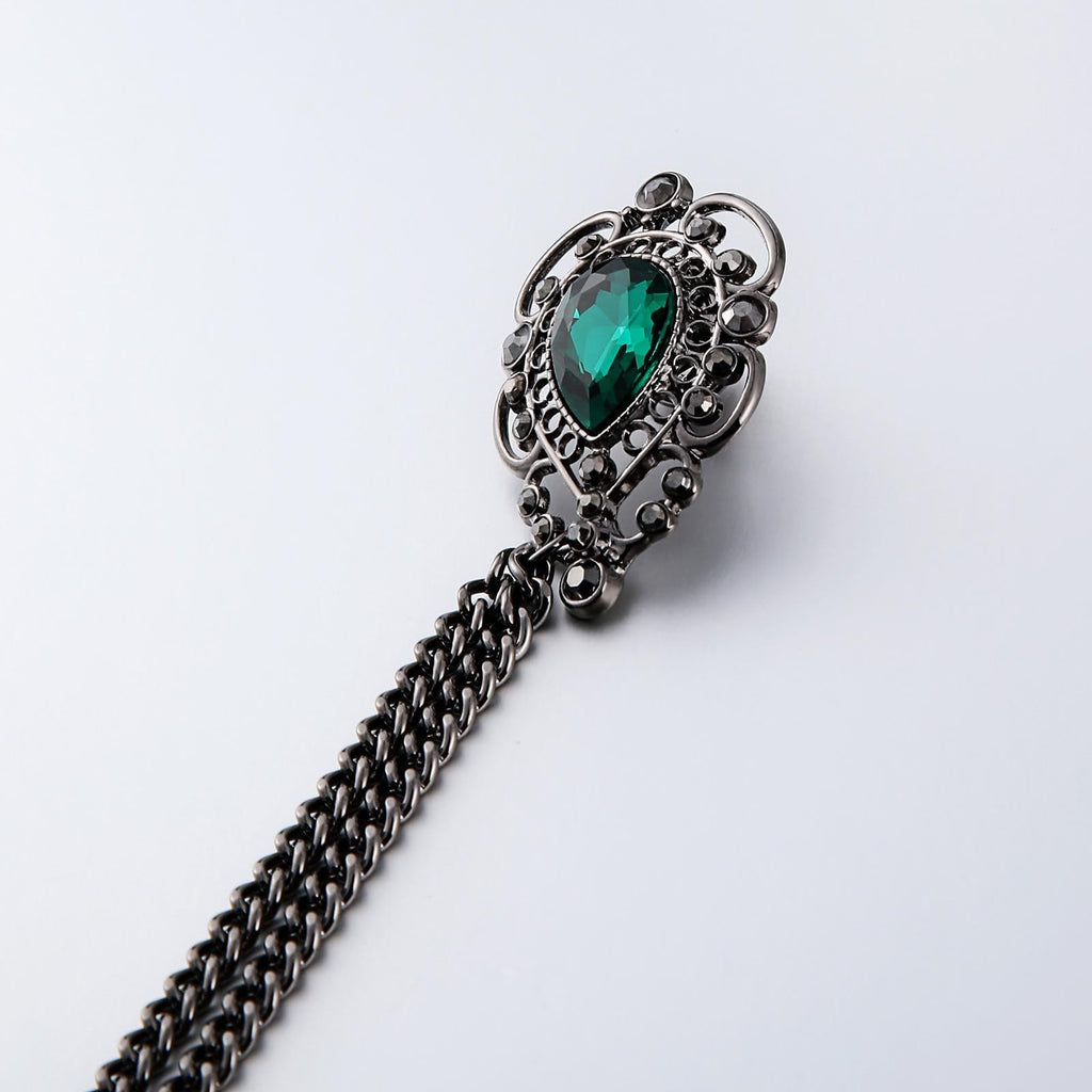 Stainless Steel Brooches For Women Pattern Shape Green