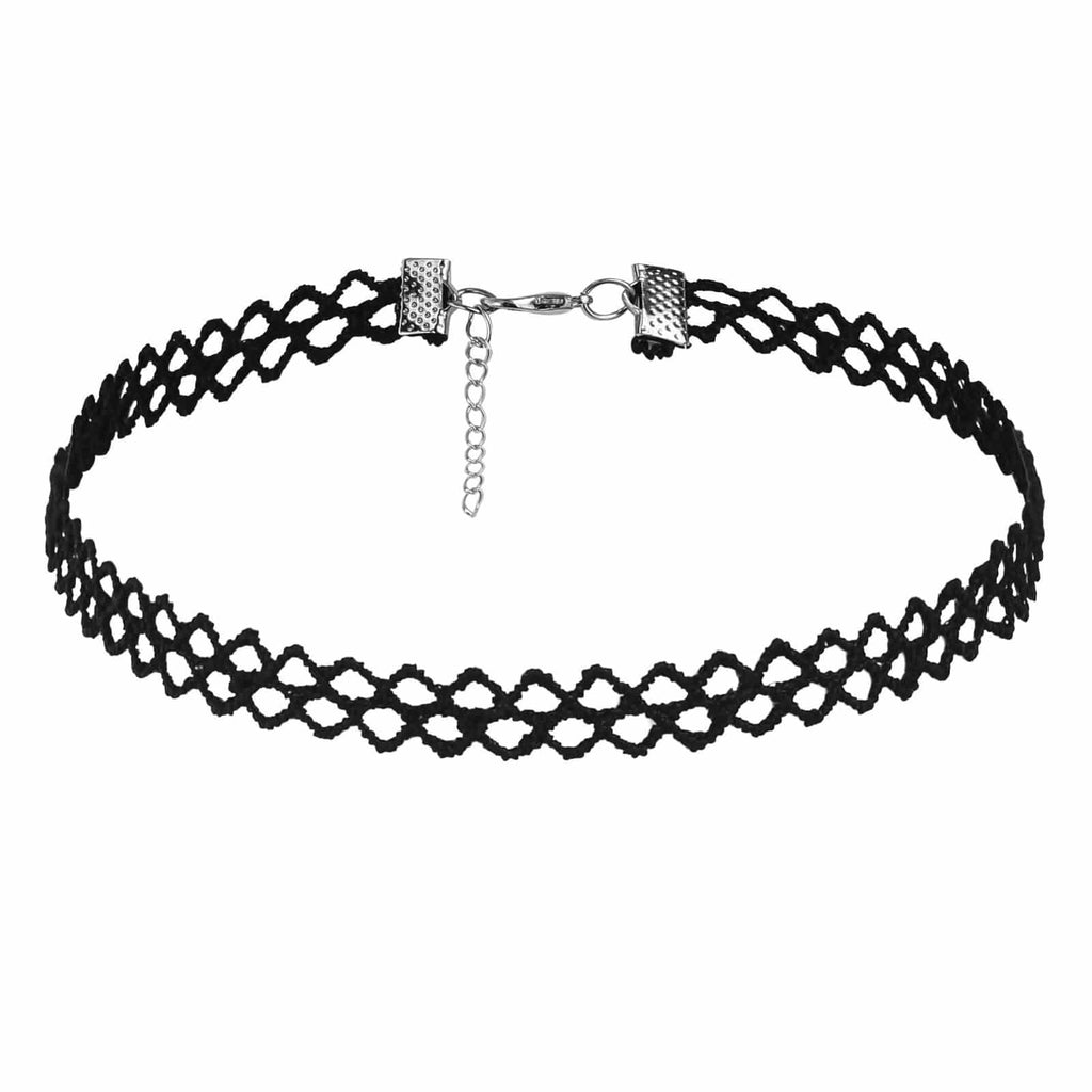 Chokers and Charms Choker Kit Gothic Tattoo Classic Lace Black Len 35.2+5CM - AnaDx