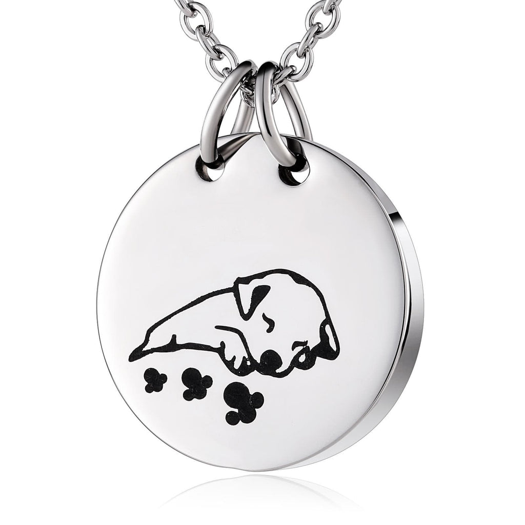 Ashes Necklace for Women Stainless Steel Tag Puppy Dog