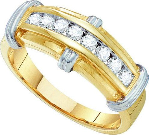 10KT Yellow Gold 0.50CTW DIAMOND  FASHION MENS BAND