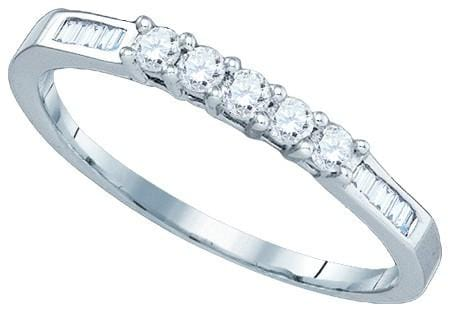 14KT White Gold 0.29CTW DIAMOND FASHION BAND