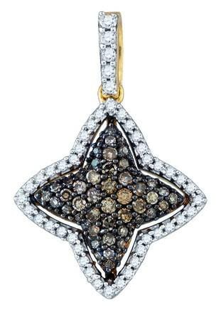 0.42CTW-DIAMOND  FASHION  PENDANT: Pendants