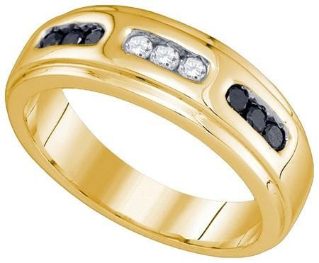 10KT Yellow Gold 0.36CT-DIA MENS BAND