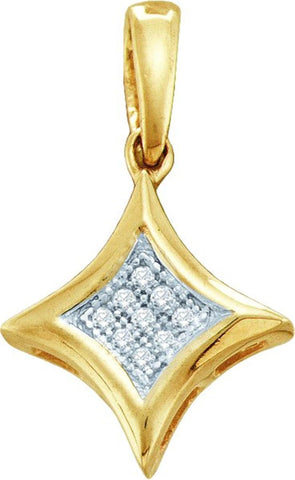 0.025CT Diamond 10K White Gold Pendant: