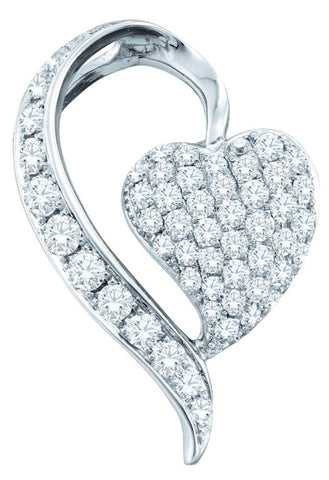 0.75CT Diamond 14K White Gold Pendant:
