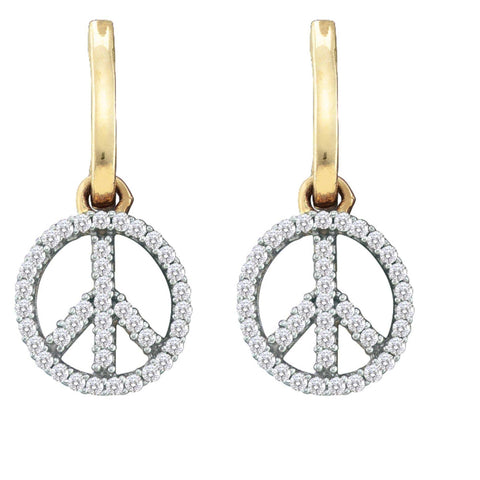0.25CT Diamond 10K White Gold Earrings:
