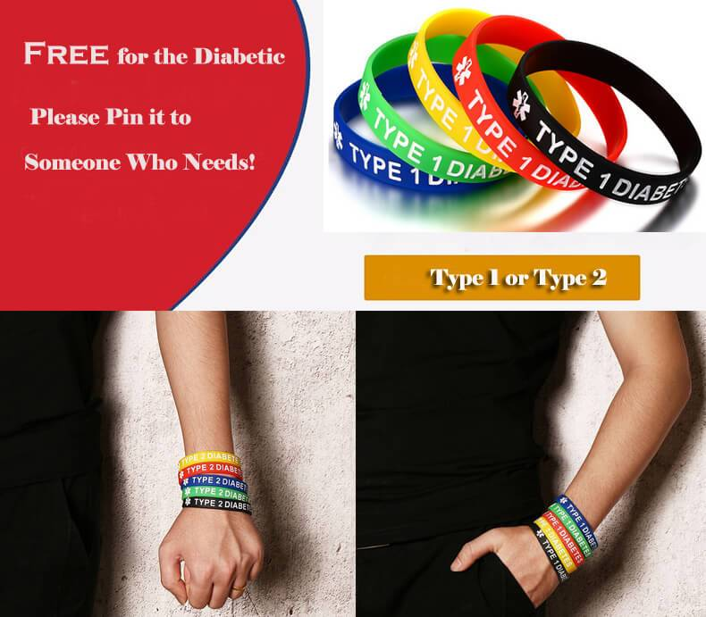 Free Medical logo Silicone Bracelet for Men Women in 5 Colours Wristband Hand Band Wrist Strap