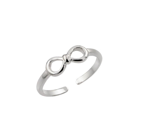 .925 Sterling Silver Jewelry  Sterling Silver Rhodium Plated Mini Bow Ring