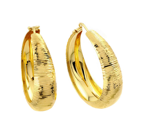 .925 Sterling Silver Gold Plated Hoop Earring: SOD