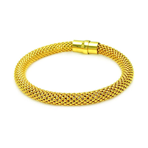 .925 Sterling Silver Gold Plated Beaded Italian Bracelet: SOD