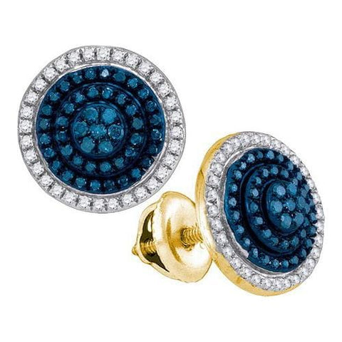 10k Yellow Gold 0.55Ctw-Dia Micro-Pave Earring: Earrings