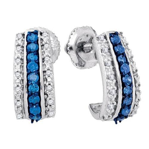 10k White Gold 0.33Ctw Diamond Fashion Earring: Earrings