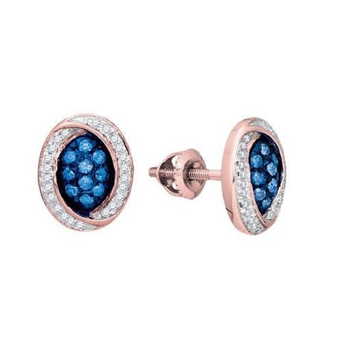 10k Rose Gold 0.33Ctw Diamond Fashion Earring: Earrings