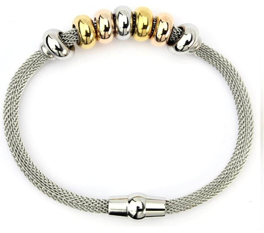 Stainless Steel Fashion Link Bracelet: