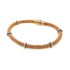 "Rose Gold Over Sterling Silver 925 Italian Bead Chain Bracelet 7.5"""" 567-itb00077rgp:"