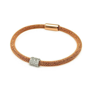 "Rose Gold Over Sterling Silver 925 Magnet Italian Bead Chain Bracelet 7"""" 567-itb00096rgp:"