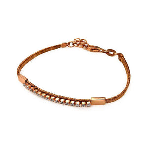 "Rose Gold Over Sterling Silver 925 Italian Bracelet 7.5"""" 567-itb00112rgp:"