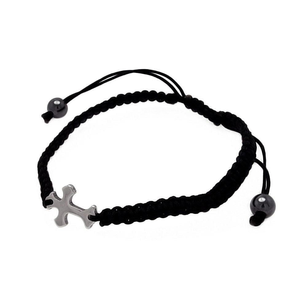 Stainless Steel 316 Shamballa Cross Bracelet  567-sbb00060: