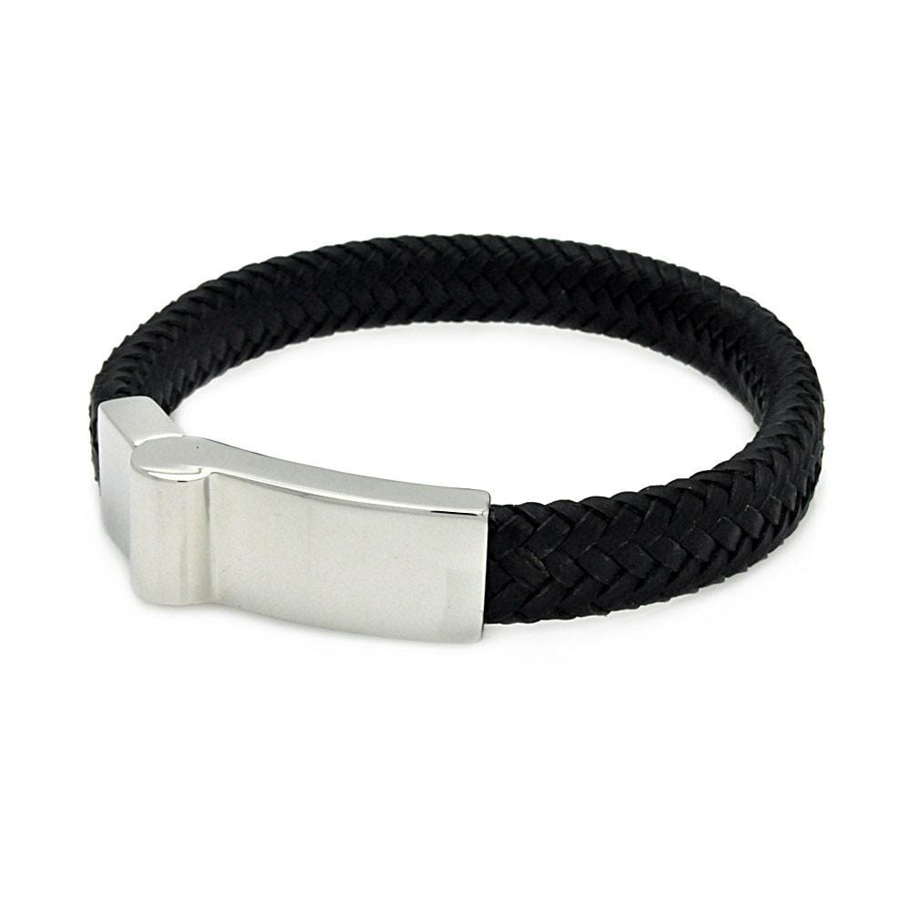 Stainless Steel 316 Leather Bracelet  567-slb00017: