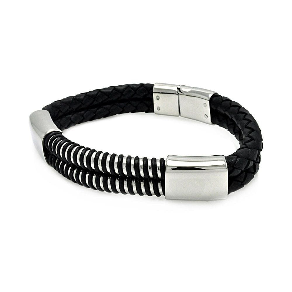 Stainless Steel 316 Leather Bracelet  567-slb00018: