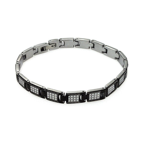 "Men's Stainless Steel 316 Celtic Design Bracelet 7"""" 567-ssb00228:"