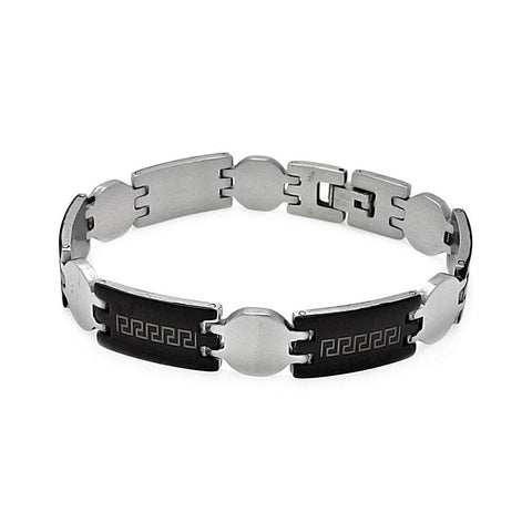 "Men's Stainless Steel 316 Celtic Design Bracelet 7"""" 567-ssb00230:"