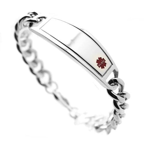 Men's Stainless Steel Medical ID Bracelet: