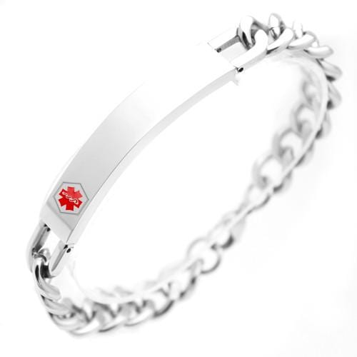 Stainless Steel Medical ID Bracelet: