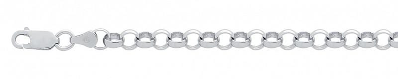 ".925 Sterling Silver Nickel Free Rhodium Plated Rollo 100 Bracelet 7.5"""" (6mm): Length 7.5"""""