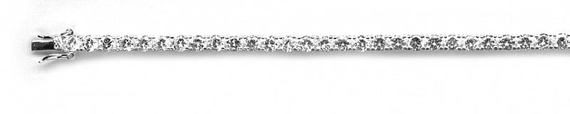 ".925 Sterling Silver 4mm Rhodium Tennis Bracelet 7"""" - AnaDx Collection"