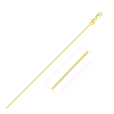1.0mm 14K Yellow Gold Gourmette Chain 18 inches