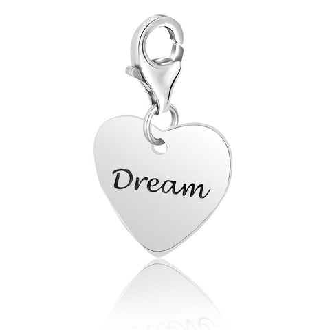 Sterling Silver Heart DREAM Charm