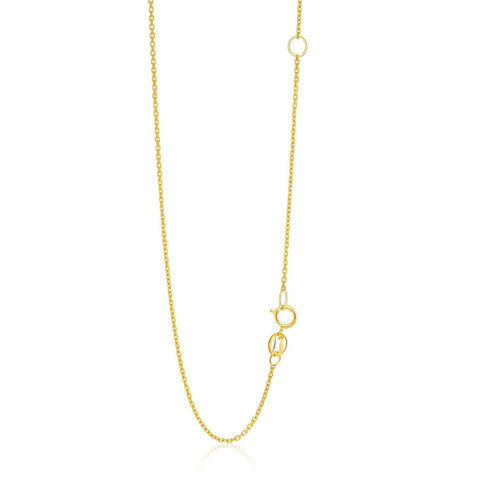 1.1mm 14K Yellow Gold Adjustable Cable Chain 20 inches