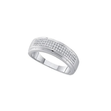Sterling Silver 0.20CTW DIAMOND MICRO PAVE MENS BAND