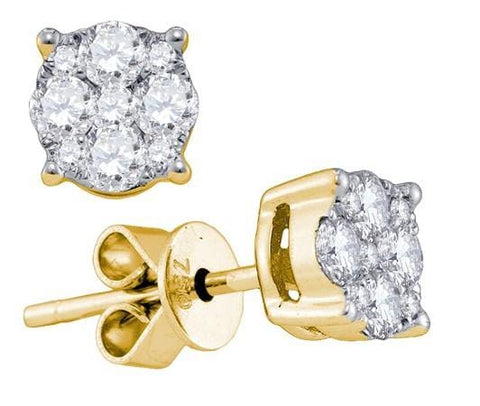 "18KT Yellow Gold 1.44CT-DIA """"LARISSA"""" DIA-EARRING: Earrings"