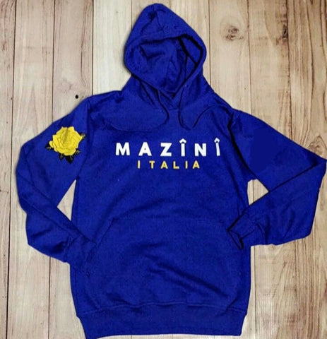M Â Z Î N Î - Royal Blue Classic Pull Over Hoodie