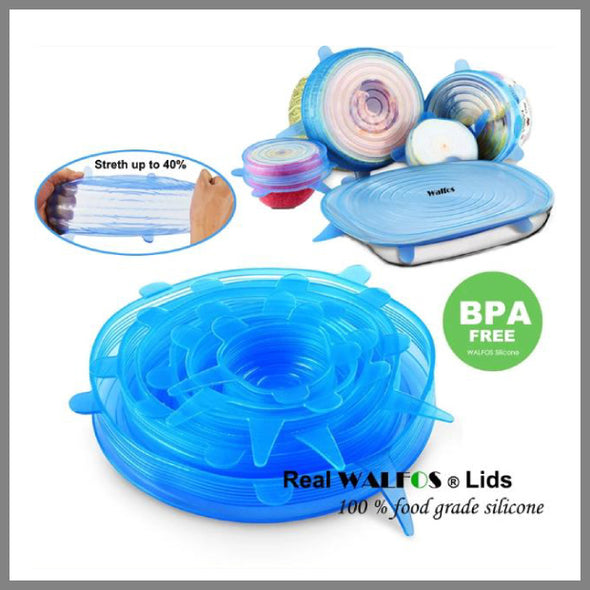 Silicone Stretch Lids (6 sizes/set)