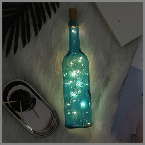 Cozy LED Lights Bottle Decoration