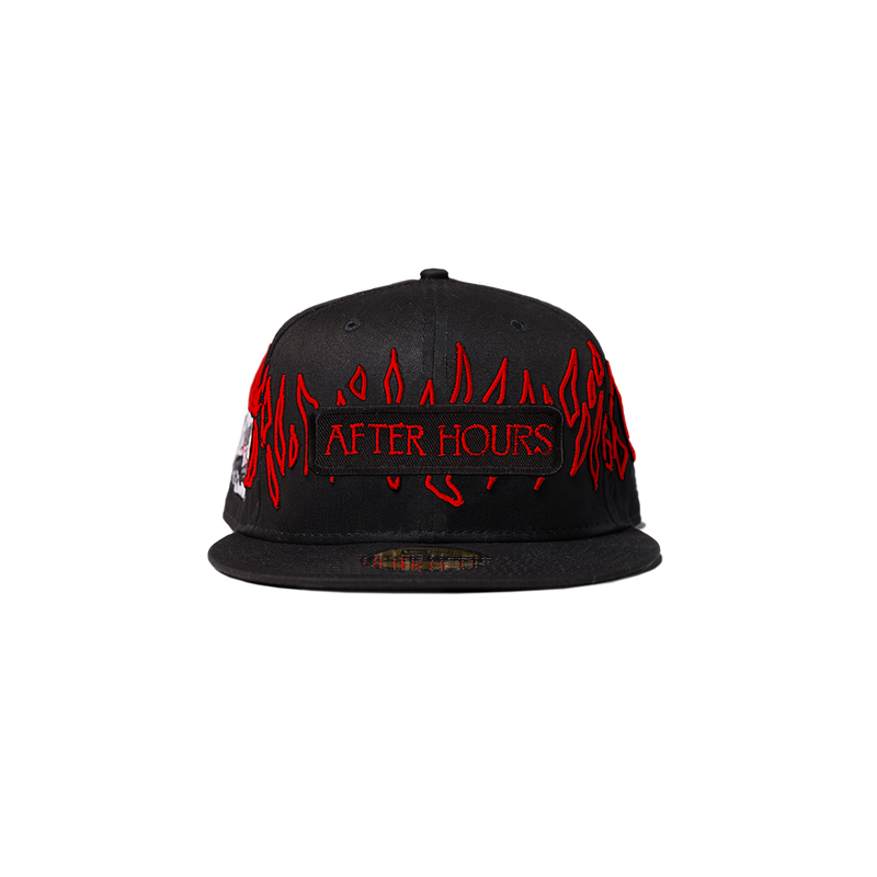 NEW ERA XO AFTER HOURS 59FIFTY FITTED CAP BLACK/RED