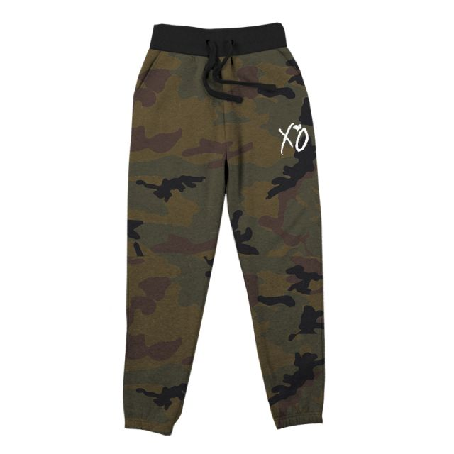 XO CLASSIC LOGO FLEECE CAMO SWEATPANTS