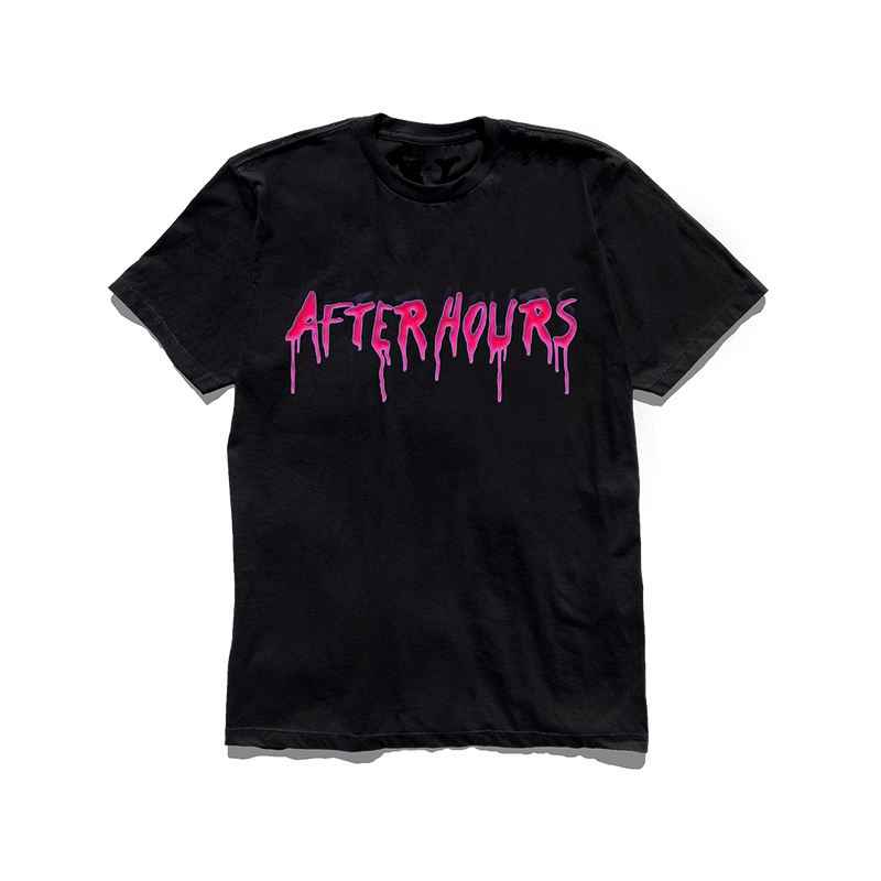 VLONE AFTER HOURS ACID DRIP TEE BLACK + DIGITAL ALBUM