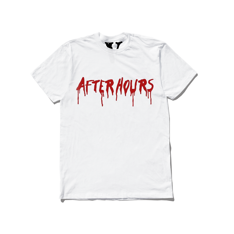 VLONE AFTER HOURS BLOOD DRIP TEE WHITE + DIGITAL ALBUM