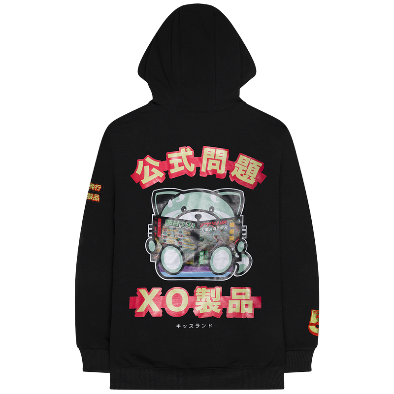 KISS LAND MAGAZINE FLEECE PULLOVER HOOD